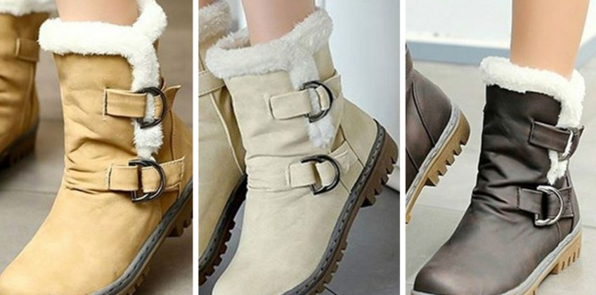 £19.99 instead of £59.99 (from My Blu Fish) for a pair of faux fur buckle boots - save 67% from Wowcher