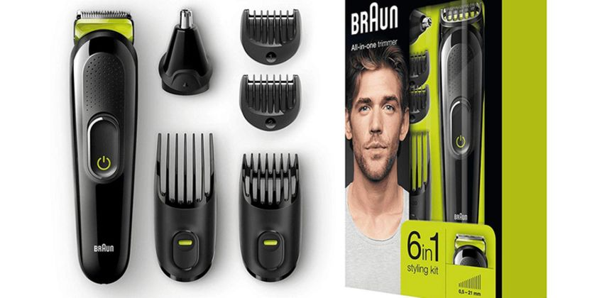 £19.49 instead of £27.50 (from Avant Garde) for a Braun MGK3021 six-in-1 beard trimmer and hair clipper - save 29% from Wowcher