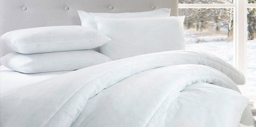 From £15 instead of £40 (from e-Home Store) for a 15 tog hollowfibre duvet and four pillows - choose from four sizes and save up to 62% from Wowcher