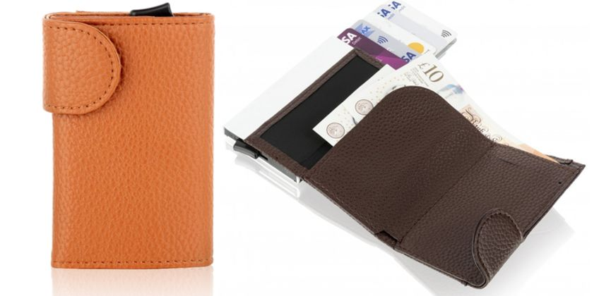 £15 instead of £30 (from Woodland Leathers) for a Bee-Secure RFID leather and aluminium six credit card holder – save 50%  from Wowcher
