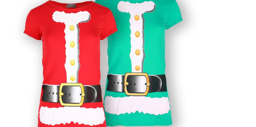 £7.99 (from Be Jealous) for a short sleeve Santa costume Christmas t-shirt  from Wowcher