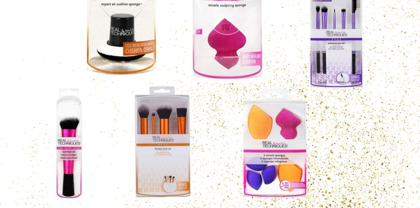 From £4 instead of £12.40 (from Avant Garde) for a Real Techniques makeup brush or sponge set - save up to 68% from Wowcher