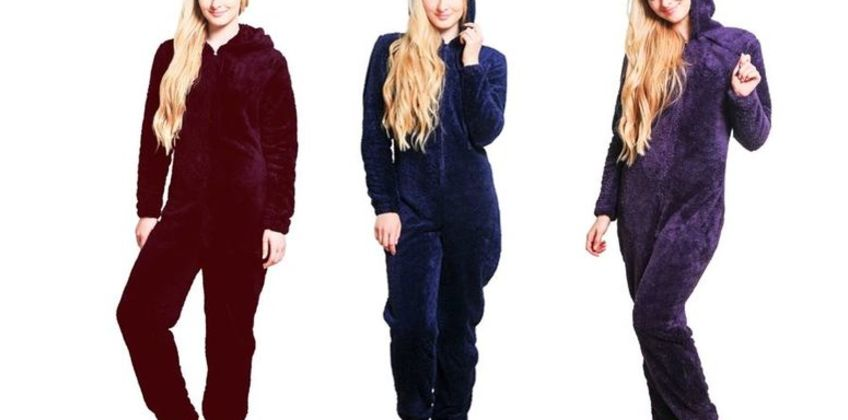 £21.99 instead of £76.86 for a warm winter onesie - choose from six colours from Turbo Inc Limited - save 71% from Wowcher
