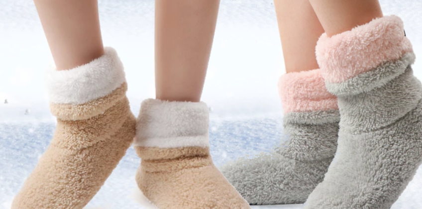 £7.99 instead of £29.95 for a warm woman's slipper socks - choose from four colours! from Turbo Inc Limited - save 73% from Wowcher