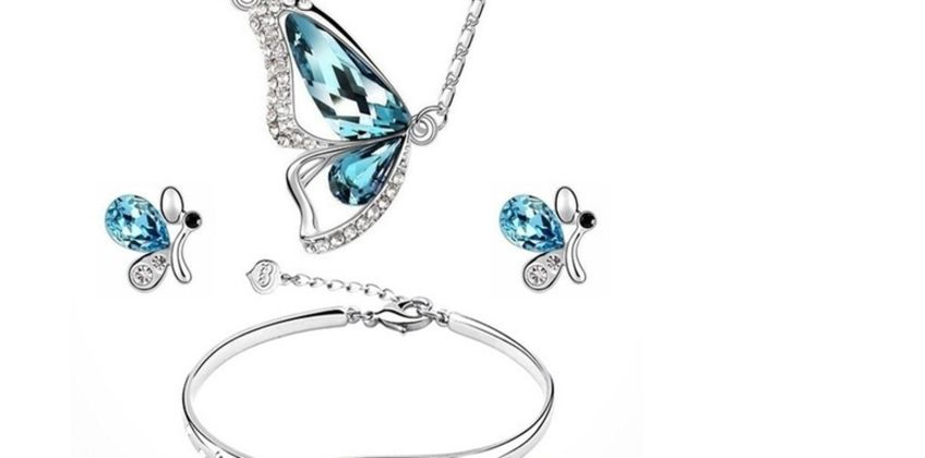 £7.49 (from Flashing Pineapple) for a four-piece butterfly jewellery set from Wowcher
