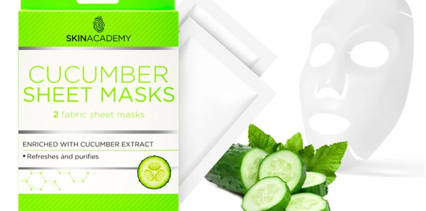 £1.98 instead of £9.99 (from Avant Garde) for one pack of refreshing cucumber sheet masks, £4.98 for a three packs - save up to 80% from Wowcher