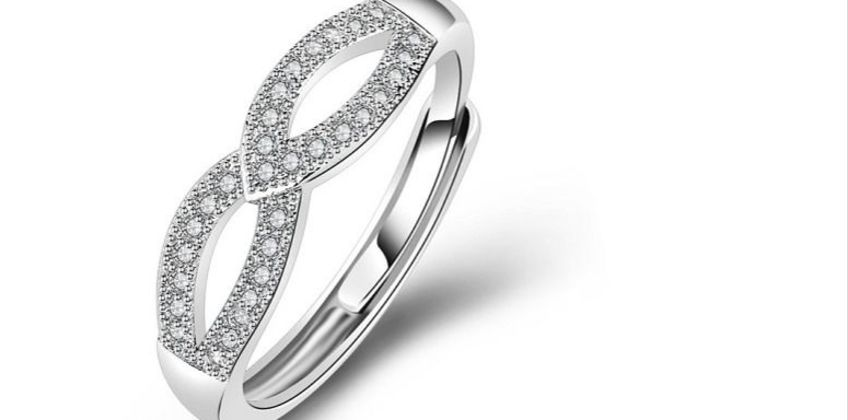 £9.99 instead of £49 for a 925 sterling silver love infinity ring - adjustable! from Genova International Ltd - save 80% from Wowcher