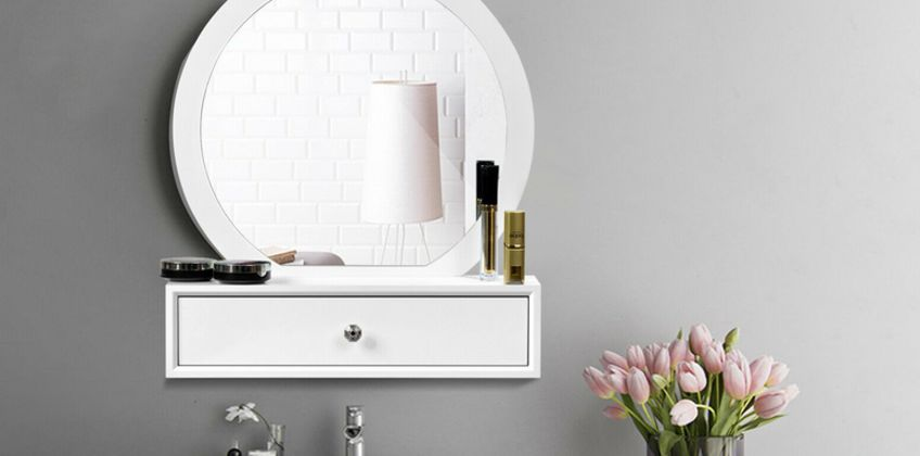£45 (from Costway) for a wall mounted floating dressing table! from Wowcher