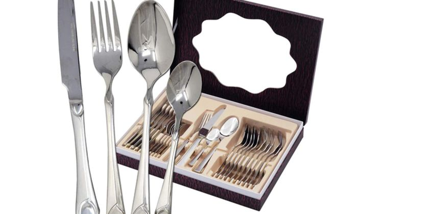 £29 (from Bargain Superstore) for a 24-piece stainless steel cutlery set from Wowcher