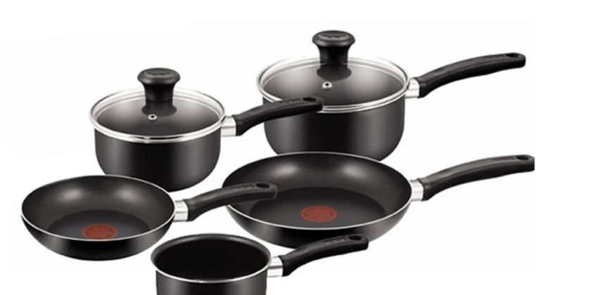 £34 instead of £94 (from Elite Housewares) for a five-piece Tefal non-stick cooking set - save 64% from Wowcher