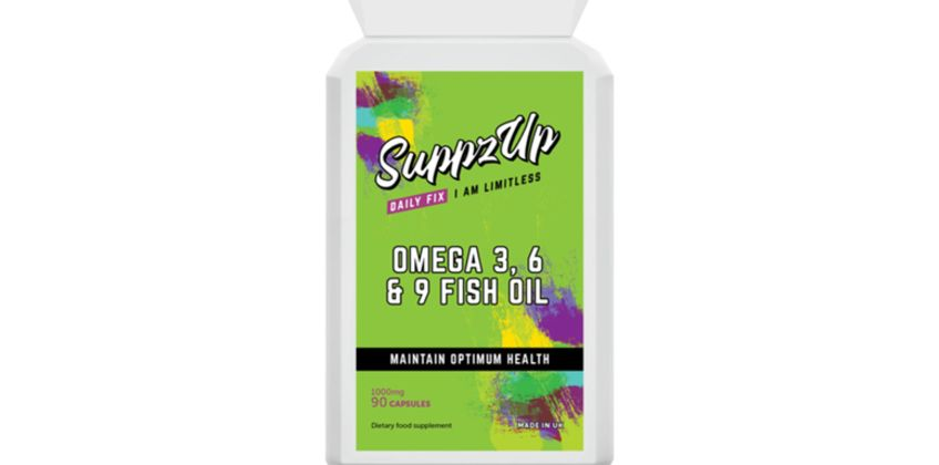 £5.99 instead of £29.99 (from Forever Cosmetics) for a three-month supply* 'Suppz Up' Omega 3, 6 and 9 fish oil tablets - save 80% from Wowcher