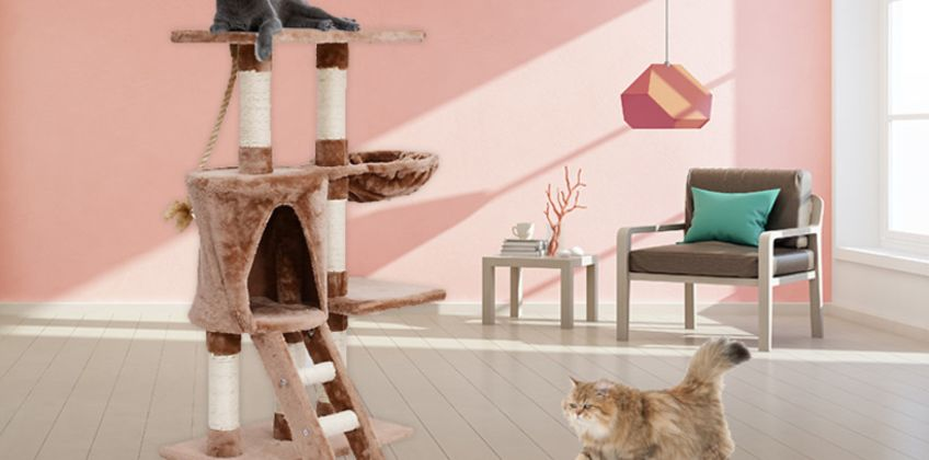 £26 instead of £59 for a cat tree with sisal post from Mhstar Uk Ltd - save 56% from Wowcher