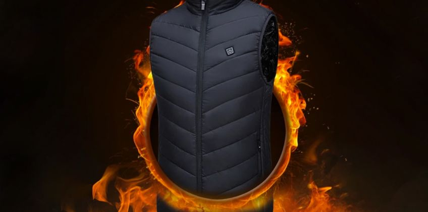 £19.99 (from Domo Secret) for a unisex thermal electric USB heated gilet – choose from black or blue in sizes small-3XL  from Wowcher