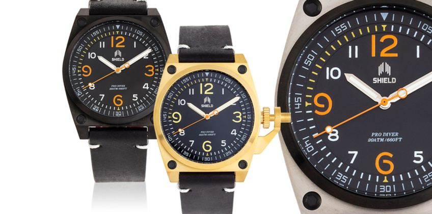 £79 (from Shield Watches) for a Pascal men's watch - choose from six designs from Wowcher