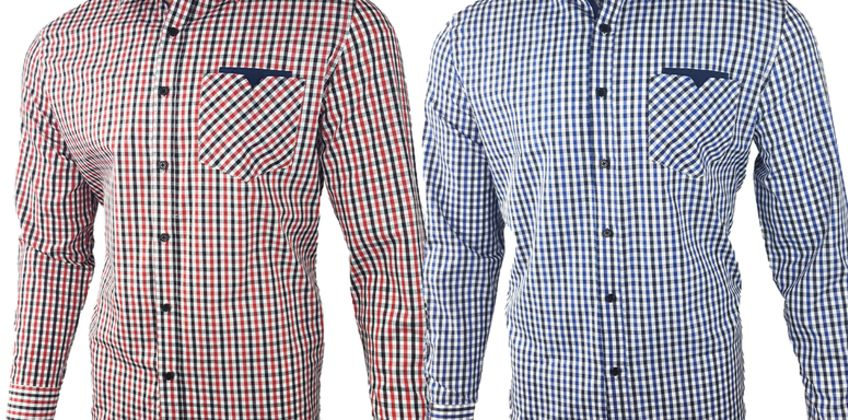 £10 (from Blu Apparel) for a men's cotton long-sleeved checked shirt from Wowcher