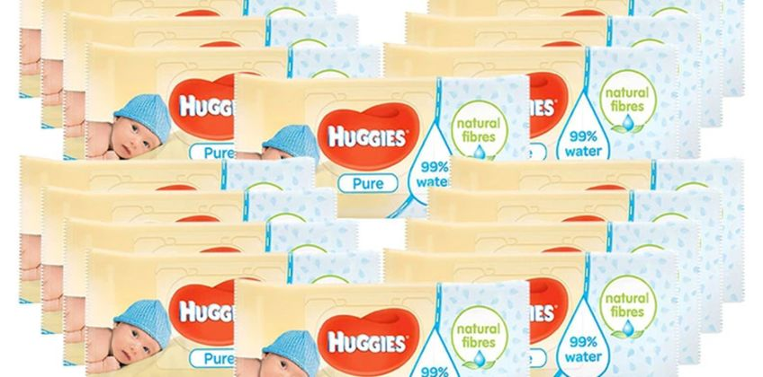 £9.99 instead of £27.99 (from Avant Garde) for an 18 pack of Huggies pure baby wipes - save 64% from Wowcher