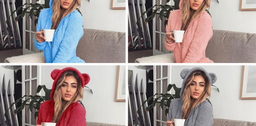 £10.99 instead of £39.99 (from LitnFleek) for a women's teddy loungewear pyjama onesie – choose from nine colours and eight sizes while saving up to 73% from Wowcher