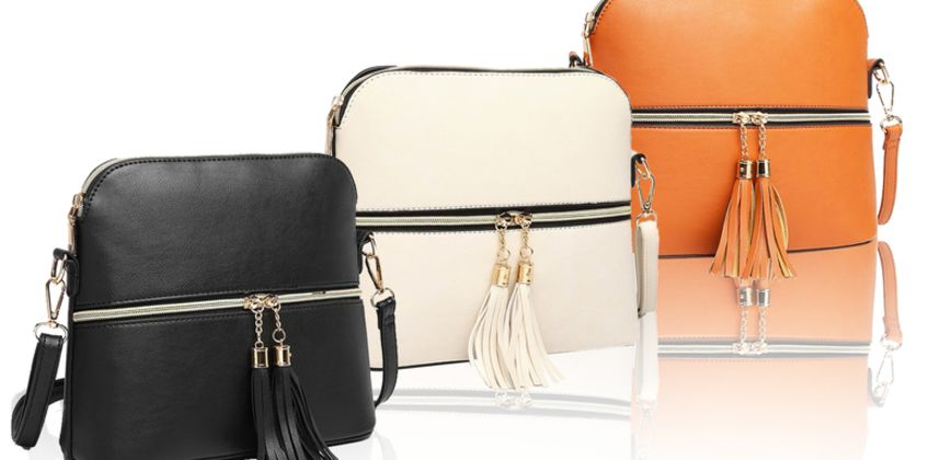 £7.99 (from Miss Lulu) for a zippered cross-body bag - choose from three colours  from Wowcher