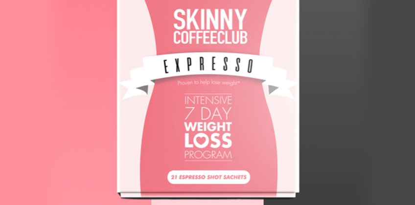 £16.99 (from Skinny Coffee Club) for an intensive seven-day 'weight loss' programme  from Wowcher