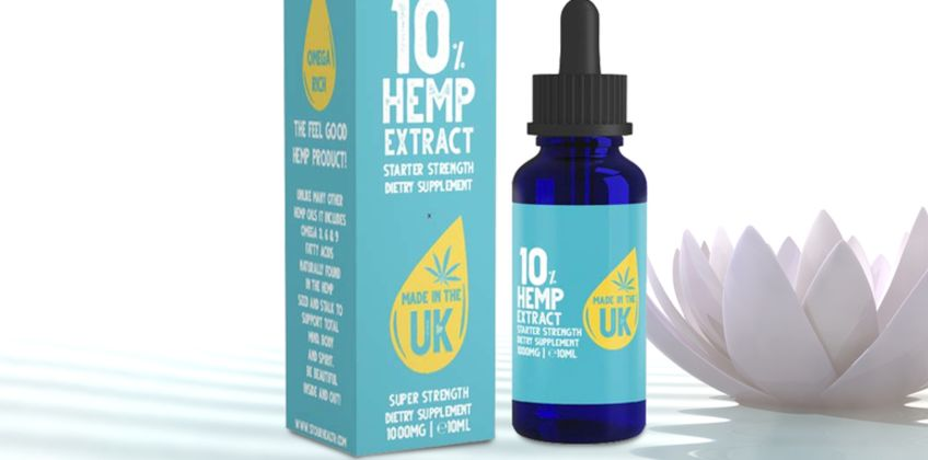 £8.99 instead of £19.99 (from Stour Health) for a 10ml bottle of 10% hemp extract oil - save 55% from Wowcher