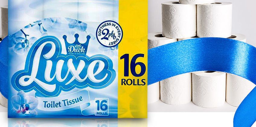 £17.99 for 45 Luxe toilet roll & 24 ultra kitchen rolls from Global Merchant Support  - save up to 74% from Wowcher