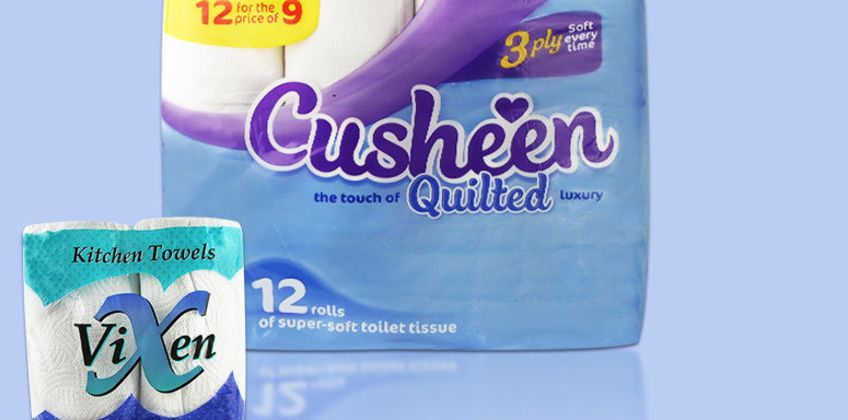 From £19.99 for 60 Cusheen Toilet Rolls & 24 Kitchen Rolls from Global Merchant Support  - save up to 67% from Wowcher
