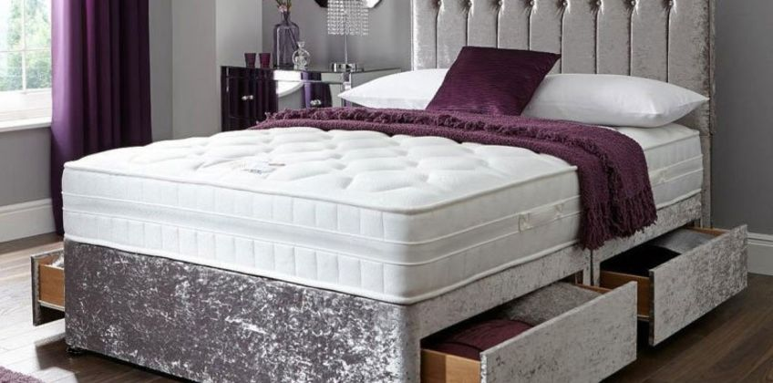 From £99 instead of £399.99 (from FTA Furnishing) for a crushed velvet divan bed - choose from two colours, two or four drawers and save up to 75% from Wowcher