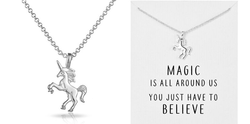 £4.99 instead of £27 (from Philip Jones) for a unicorn necklace - save 82% from Wowcher