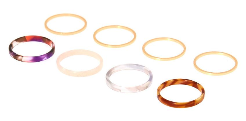 Go to Product: Tortoiseshell Rings - 8 Pack from Claires