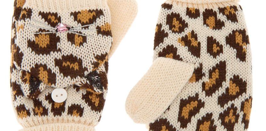 Go to Product: Leopard Fingerless Gloves With Mitten Flap - Brown from Claires