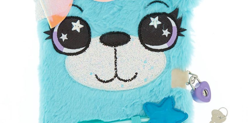 Go to Product: Brooke the Bear Soft Lock Notebook - Mint from Claires