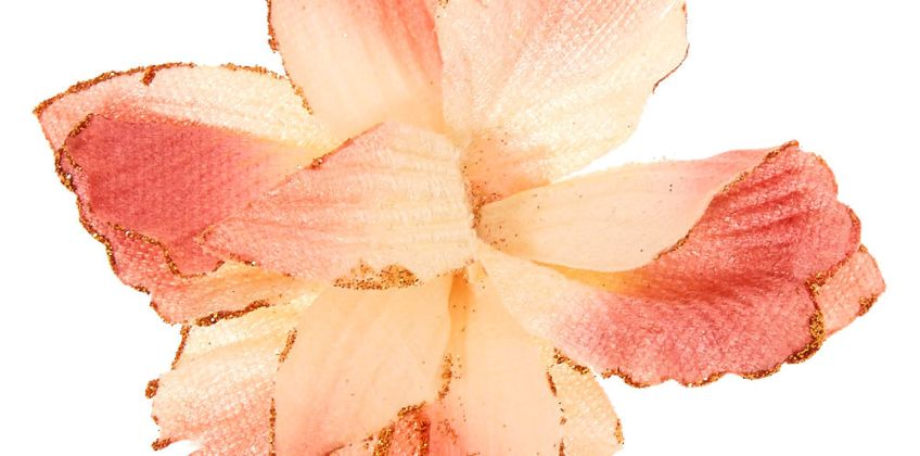 Go to Product: Velvet Glitter Flower Hair Clip - Blush Pink from Claires