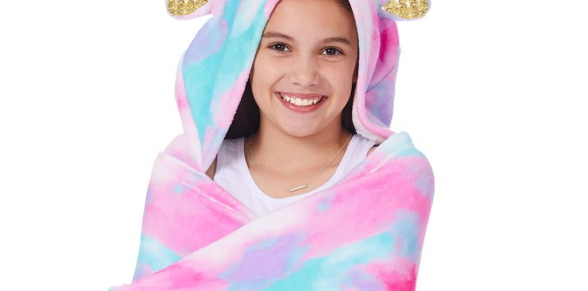 Go to Product: Unicorn Hooded Blanket - Pink from Claires