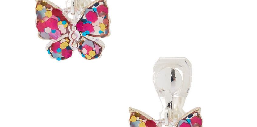 Go to Product: Glitter Butterfly Clip On Drop Earrings from Claires