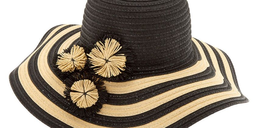 Go to Product: Striped Floppy Hat - Black from Claires