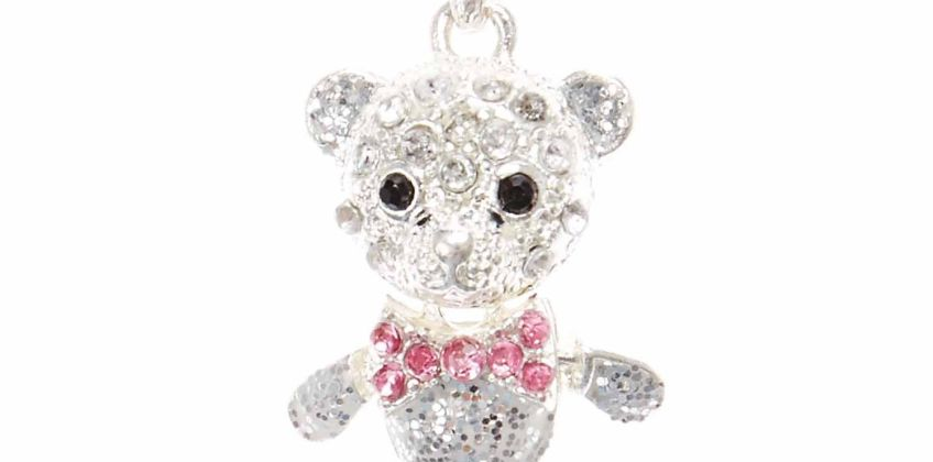 Go to Product: Silver Embellished Teddy Bear Pendant Necklace from Claires