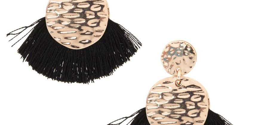 Go to Product: Black Tassel Drop Earrings from Claires