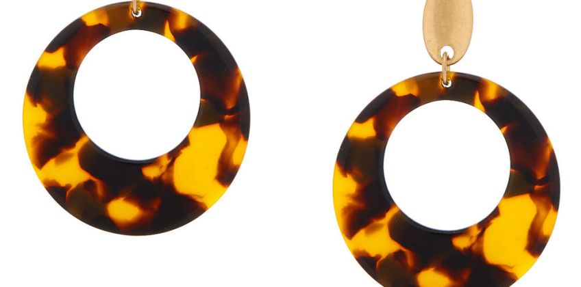 """Go to Product: 2"""" Resin Tortoiseshell Drop Earrings - Brown from Claires"""