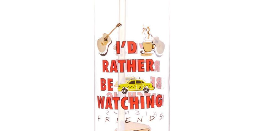 Go to Product: FRIENDS™ I'd rather be watching F.R.I.E.N.D.S Water Bottle - Red from Claires