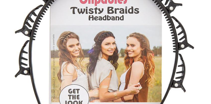 Go to Product: Clipables® Twisty Braids Headband - Black from Claires