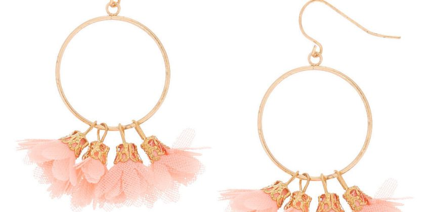 """Go to Product: Gold 1.5"""" Drop Earrings - Coral from Claires"""