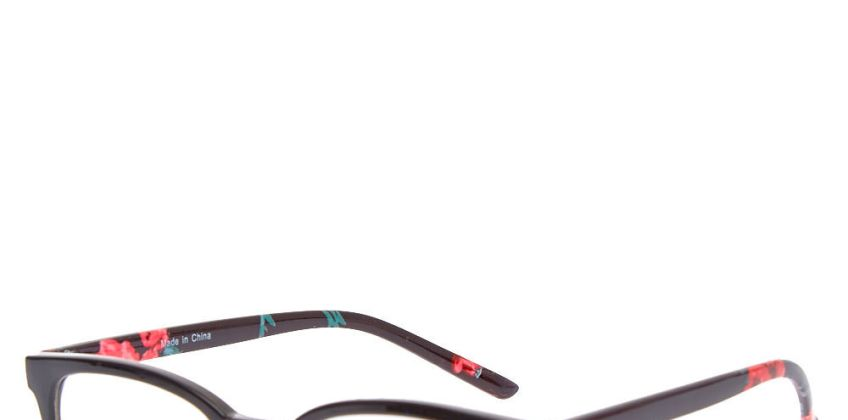 Go to Product: Retro Rose Black Half Rim Frames from Claires