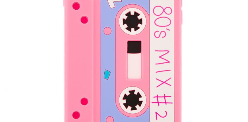 Go to Product: Pink Mixtape Silicone Phone Case - Fits iPhone 6/7/8 Plus from Claires