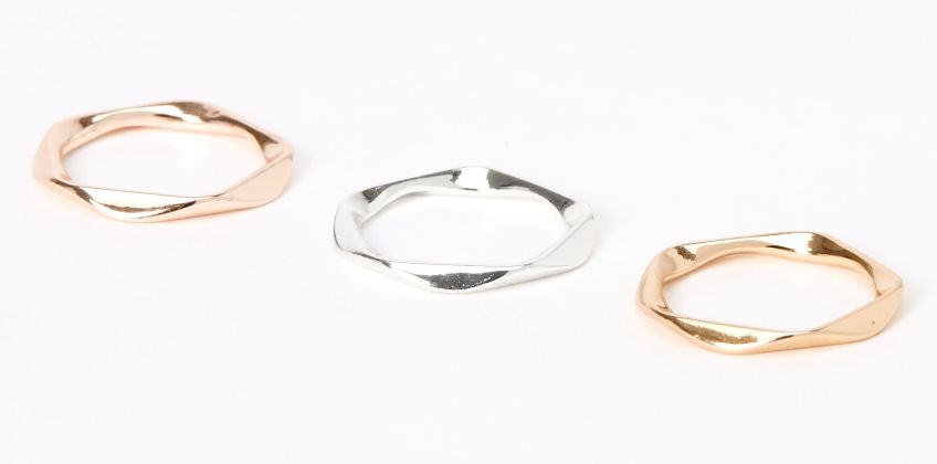 Go to Product: Mixed Metal Twisted Rings - 3 Pack from Claires