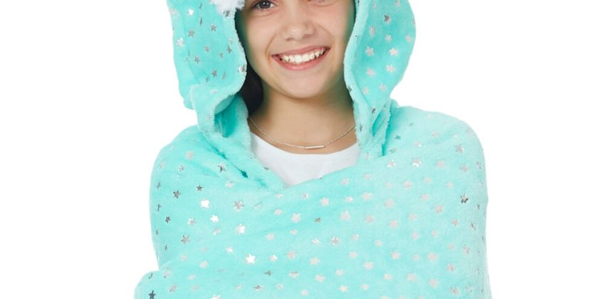 Go to Product: Trixie the Fox Hooded Blanket - Mint from Claires