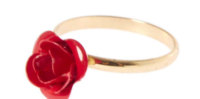 Go to Product: Red Carved Rose Ring from Claires