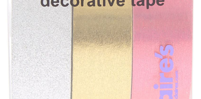 Go to Product: Pink, Gold & Silver Decorative Tape - 3 Pack from Claires