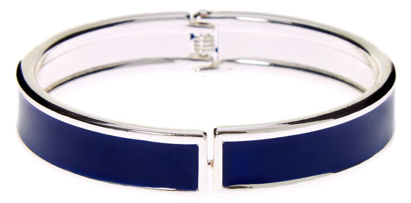 Go to Product: Silver Hinge Cuff Bracelet - Navy from Claires