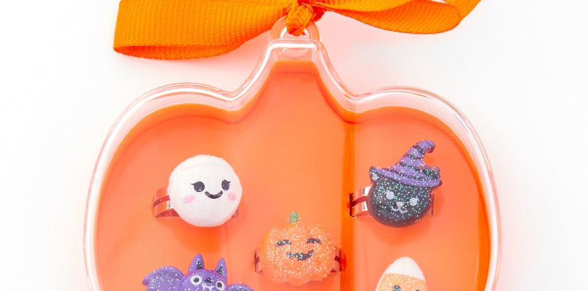 Go to Product: Halloween Pumpkin Box Rings - Orange, 5 Pack from Claires