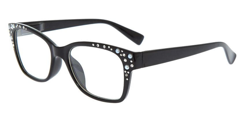 Go to Product: Embellished Retro Clear Lens Frames - Black from Claires